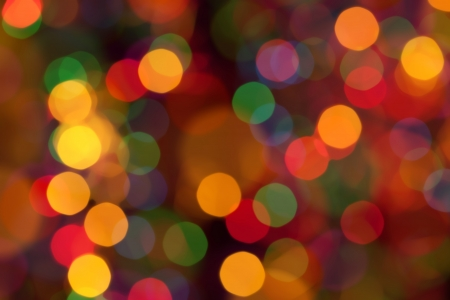 dotted background: Abstract circular bokeh background of Christmaslight