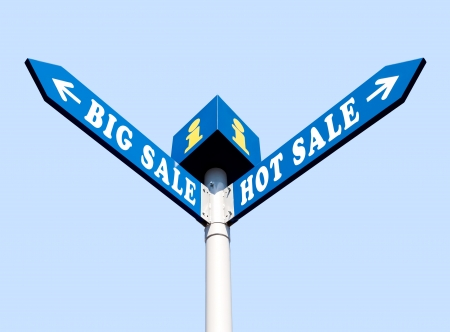 Big Sale and Hot Sale Directional Road Signs Stock Photo - 16110763