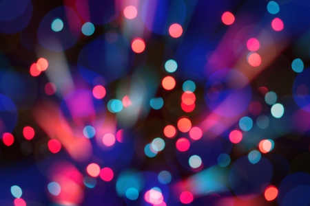 night spot: Abstract circular bokeh background of Christmas light
