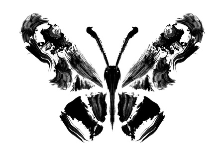 Abstract butterfly. Stylized image of a butterfly painted rough brush strokes Stock Photo - 17282771