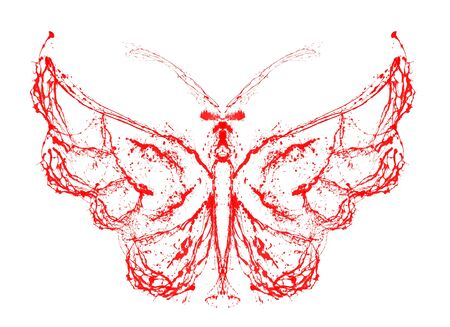 Abstract butterfly. Grunge splash draw paint Stock Photo - 17325582
