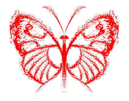 Abstract butterfly. Grunge splash draw paint Stock Photo - 17325583
