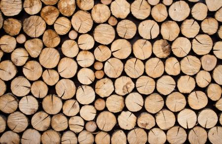Stapel van houtblokken klaar voor de winter