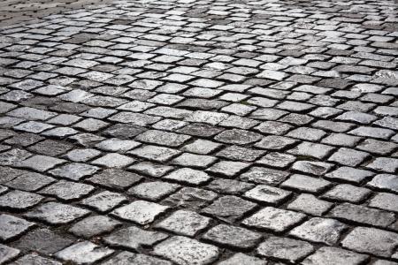 Abstracte achtergrond van geplaveide weg