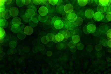 Bokeh lights. Abstract soft green light background photo