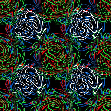 trellis: Twirls abstract. Seamless colorful abstract pattern