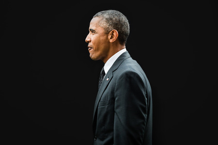 NEWPORT, WALES, UK - Sep 4, 2014: NATO summit. US President Barack Obama at the NATO summit in Newport (Wales, UK)