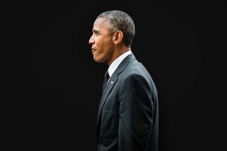 NEWPORT, WALES, Verenigd Koninkrijk - 4 september 2014: de NAVO-top. De Amerikaanse president Barack Obama bij de NAVO-top in Newport (Wales, Verenigd Koninkrijk)