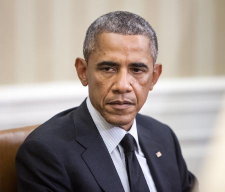 WASHINGTON DC, USA - 18 september 2014: De Amerikaanse president Barack Obama tijdens een officiële ontmoeting met de president van Oekraïne Petro Poroshenko in Washington, DC (USA)