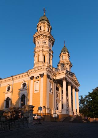 exaltation: Greek Catholic Cathedral of the Exaltation of the Holy Cross in Uzhhorod, Transcarpathia, Ukraine