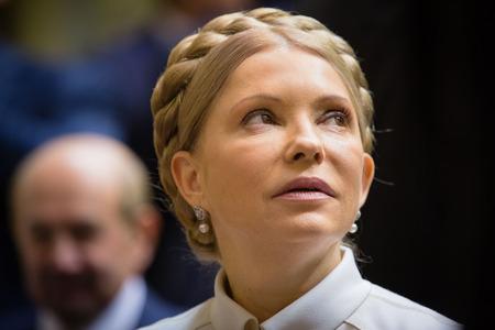 rada: KIEV, UKRAINE - NOV 27, 2014: The Peoples Deputy of Ukraine Yulia Tymoshenko at the opening of the first session of the Verkhovna Rada of Ukraine VIII convocation