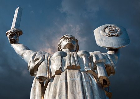 Monumental statue of the Mother Motherland devoted the Great Patriotic War