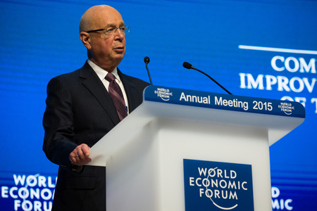 DAVOS; SWITZERLAND - Jan 21; 2015: Klaus Schwab Founder and Executive Chairman; World Economic Forum in Davos (Switzerland)
