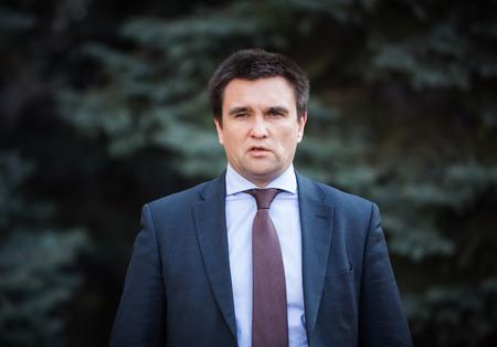 minister: KIEV, UKRAINE - Mar. 10, 2015: Minister of Foreign Affairs of Ukraine Pavlo Klimkin makes a statement to the press