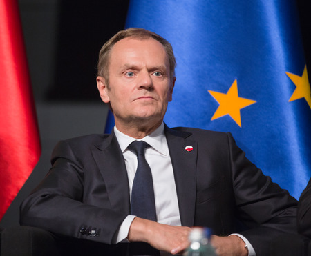 GDANSK, POLAND - May 07, 2015: President of the European Council, Donald Tusk during events to mark the 70th anniversary of the victory over Nazism in Europe Redakční