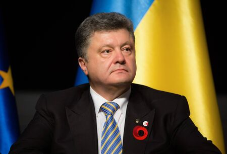 nazism: GDANSK, POLAND - May 07, 2015: President of Ukraine Petro Poroshenko during events to mark the 70th anniversary of the victory over Nazism in Europe