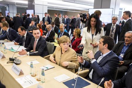 chancellor: RIGA, LATVIA - May 22, 2015: Eastern Partnership Sammit. Chancellor of the Federal Republic of Germany Angela Merkel