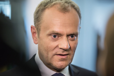 donald: RIGA, LATVIA - May 22, 2015: Eastern Partnership Sammit. President of the European Council Donald Tusk