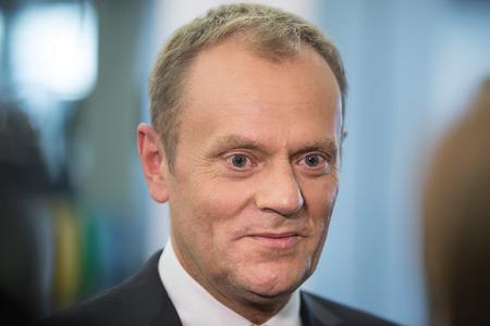 tusk: RIGA, LATVIA - May 22, 2015: Eastern Partnership Sammit. President of the European Council Donald Tusk