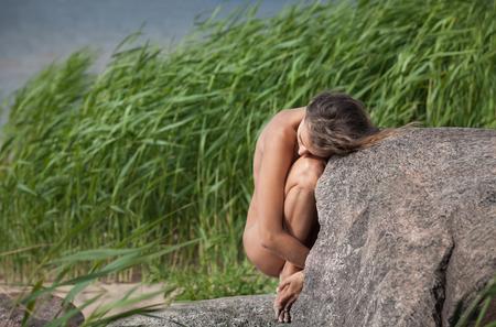 woman nude: