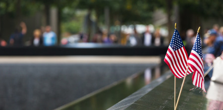 NEW YORK, USA - Sep 27, 2015: Memorial at World Trade Center Ground Zero. The memorial was dedicated on the 10th anniversary of the Sept. 11, 2001 attacks