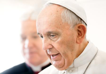 CITTA 'DEL VATICANO, VATICANO - Nov 20, 2015: Papa Francesco nel corso di un incontro con il presidente ucraino Petro Poroshenko