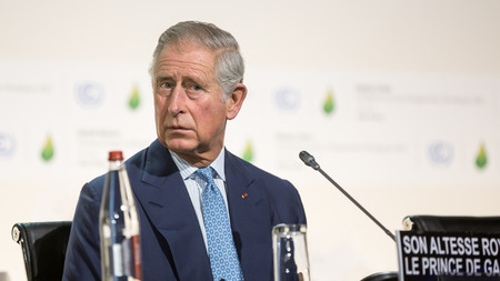 un: PARIS, FRANCE - Nov 30, 2015: Charles, Prince of Wales at the 21st session of the UN Conference on Climate Change