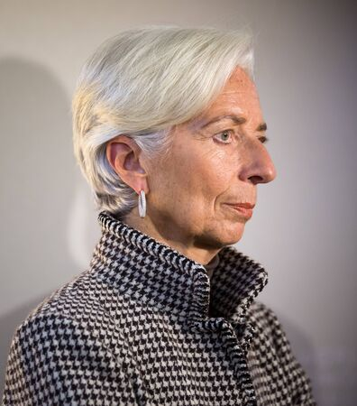 christine: DAVOS, SWITZERLAND - Jan 21, 2016: Managing Director of the International Monetary Fund, Christine Lagarde at the World Economic Forum in Davos (Switzerland) Editorial