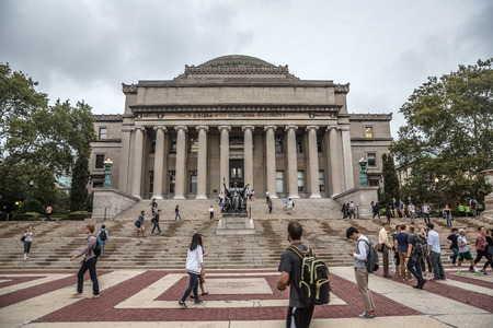 NEW YORK, USA - Sep 26, 2015: The library of Columbia university. New York City's Columbia University, an Ivy League school