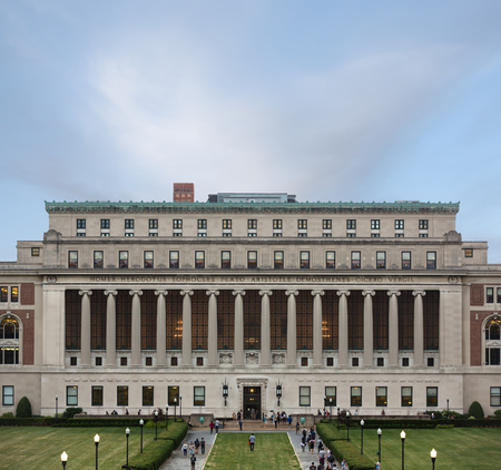 ivy league: NEW YORK, USA - Sep 26, 2015: New York Citys Columbia University, an Ivy League school.