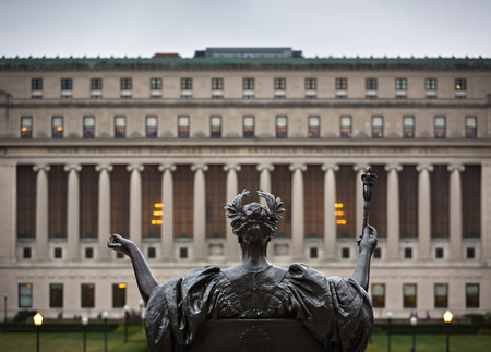 university building: NEW YORK, USA - Sep 26, 2015: Alma Mater. New York Citys Columbia University, an Ivy League school.