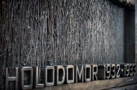 dictator: WASHINGTON D.C., USA - Mar 31, 2016: The Holodomor Memorial honors the millions of victims of the 1932-1933 genocidal famine in Ukraine, ordered by Soviet dictator Joseph Stalin
