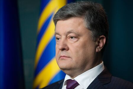 regime: KIEV, UKRAINE - Apr 20, 2016: President of Ukraine Petro Poroshenko during the address to the nation on the Commissions proposals concerning the introduction of visa-free regime for Ukrainian citizens