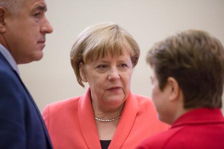 chancellor: ISTANBUL, TURKEY - May 23, 2016:  German Chancellor Angela Merkel during World Humanitarian summit in Istanbul