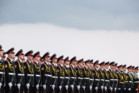 advisers: KIEV, UKRAINE - Jun 15, 2016: A guard of honor during a meeting of Secretary of State of the Holy See Cardinal Pietro Parolin Editorial