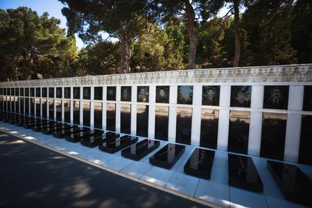 heros: BAKU, AZERBAIJAN - Jul 14, 2016: Tomb of Heros. A memorial of those killed by the Soviet army during the independence war of Azerbaijan Editorial