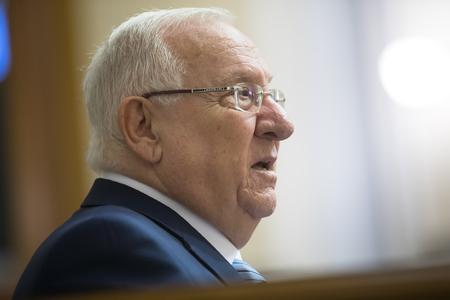 rada: KIEV, UKRAINE - Sep 27, 2016: President of the State of Israel Reuven Rivlin speaks in the hall of the Verkhovna Rada of Ukraine Editorial
