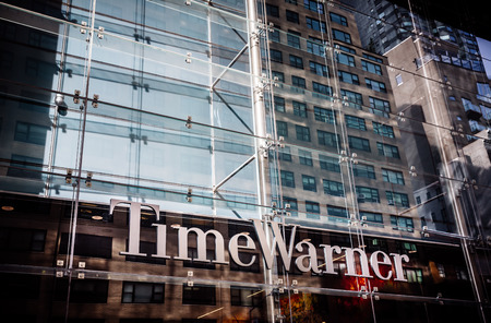warner: NEW YORK, USA - Sep 21, 2016: Time Warner Inc., a global leader in media and entertainment with businesses in television networks and film and TV entertainment