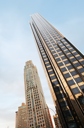 NEW YORK, USA - Apr 27, 2016: Manhattan modern architecture. Manhattan is the most densely populated of the five boroughs of New York City