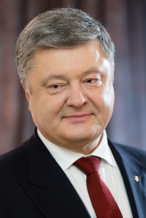 BERLIN, GERMANY - Jan 30, 2017: President of Ukraine Petro Poroshenko during an official visit to the Federal Republic of Germany