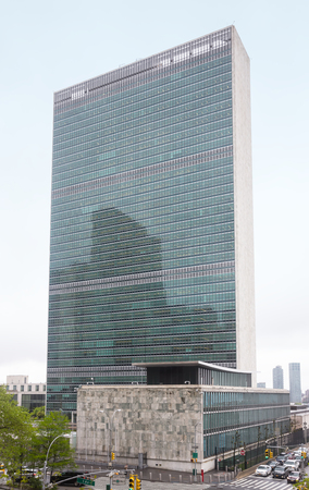 unicef: NEW YORK, USA - May 03, 2016: United Nations Building in New York City is the headquarters of the United Nations organization