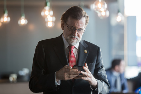 rajoy: ST. JULIANS - MALTA, 30 March 2017: Working moments of the EPP Congress. Prime Minister of Spain Mariano Rajoy during the congress of the European Peoples Party (EPP) in Malta.