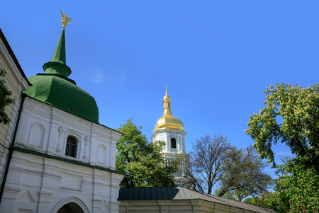 Kyiv in spring time. Saint Sophia Cathedral in Kyiv is an outstanding architectural monument of Kievan Rus