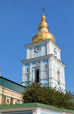 Mikhailovsky cathedral on Mikhailovska Square. St. Michaels Golden-Domed Monastery is a functioning monastery in Kiev, the capital of Ukraine