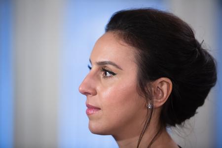 ganado: KIEV, UCRANIA - 18 de mayo de 2017: Susana Alimivna Jamaladinova mejor conocido por el nombre de etapa Jamala, es ucraniano cantante, actriz y compositora. Representó a Ucrania y ganó el Concurso de la Canción de Eurovisión 2016 Editorial