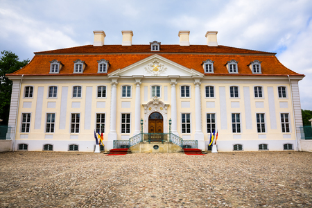 Schloss Meseberg is a Baroque castle 65 km north of Berlin in Brandenburg, Germany which is the retreat of the Chancellor of Germany and the official state guest house of the German Federal Government