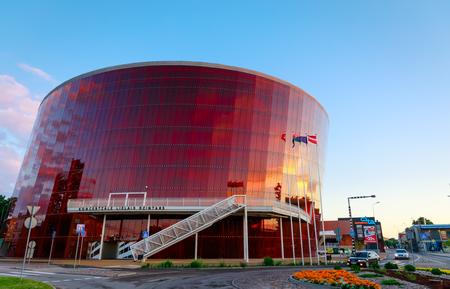LIEPAJA, LATVIA - Jun 25, 2017: Concert hall Great Amber (LIELAIS DZINTARS) is a regional centre of culture, home to the Liepaja Symphony Orchestra, Liepaja Music, Art and Design High School Editorial
