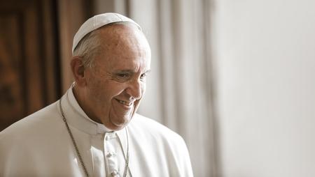 VATICAN CITY, VATICAN - 20 november 2015: Francis Pope tijdens een ontmoeting met de Oekraïnse president Petro Poroshenko