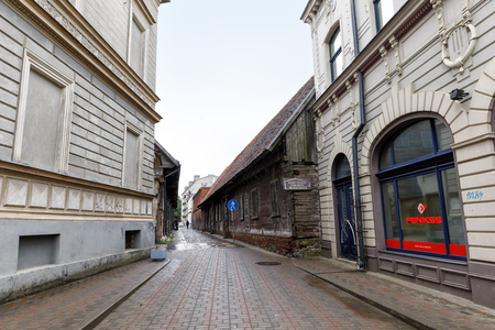 LIEPAJA, LATVIA - JUN 25, 2017: Streets of Liepaja. Liepaja is a city located on Baltic Sea. It is the third largest city in the country after Riga and Daugavpils. It is an important ice-free port.