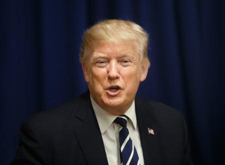 NUEVA YORK, EE. UU. - 21 de septiembre de 2017: Reunión del presidente de los Estados Unidos, Donald Trump, con el presidente de Ucrania, Petro Poroshenko, en Nueva York